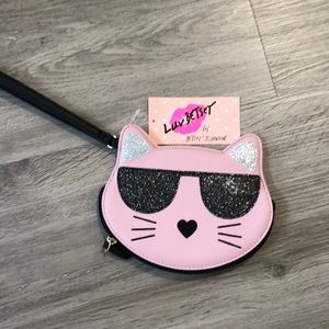 Luv Betsey by Betsey Johnson Cat Wristlet. NWT